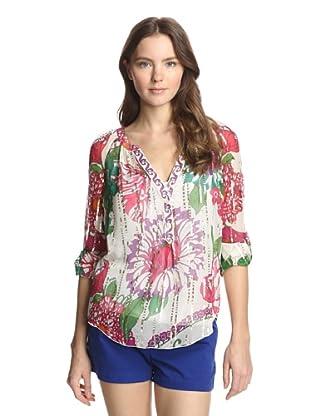 Hale Bob Women's Printed Blouse (Pink)
