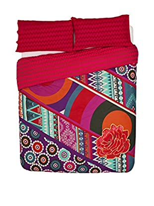 Desigual Bettdecke und Kissenbezug Patch