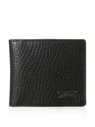 Just Cavalli Men's Reptile-Embossed Card Wallet (Black)