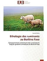 Ethologie Des Ruminants Au Burkina Faso (Omn.Univ.Europ.)