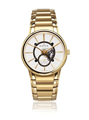 Edox Men's Les Bemonts Gold\/White Stainless Steel Watch