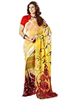 Vibes Women's Weighless butic Saree with Blouse (S22-1411A_Multi-Coloured)