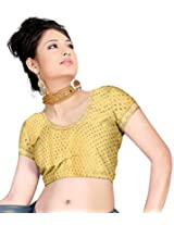 Khoobee Presenting Festive Special Art Silk Jacquard Stitched Blouse.(Chikoo)