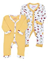 Morisons Baby Dreams Yellow Full Sleeves Romper - Set Of Two