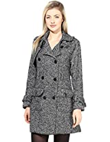 The Gud Look Women's Cotton/Polyster/Acrylic European Overcoat