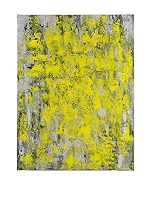 Surya Grey and Yellow Abstract Wall Décor, Multi, 48