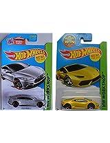 2015 Hot Wheels Tesla Model S & Lamborghini Huracan LP 610-4 2-car set
