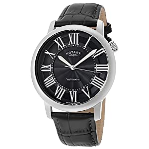 Rotary Men's GLE000010-10 Black Leather Watch