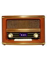 Wolverine RSR100 Retro Table Top Bluetooth Speaker and AM/FM Radio