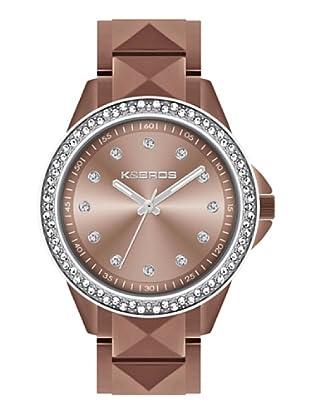 K&BROS 9565-1 / Reloj de Señora con brazalete metálico marrón