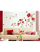Syga Red flowers wall stickers A_SFSA
