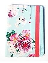 "Incipio Universal 7"" Leather Folding Folio Tablet Case Cover (Roses)"