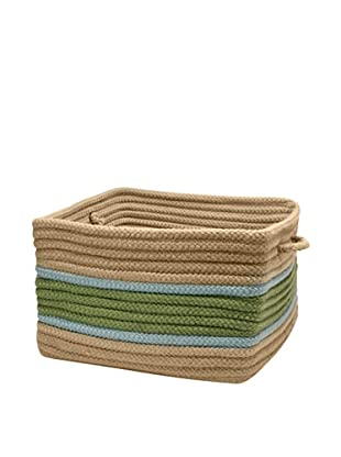 Colonial Mills Garden Band Rectangular Basket (Moss/Fed Blue)