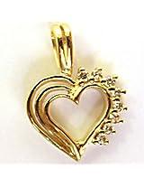 Colour Of Love Diamond Heart 18kt Gold Pendant
