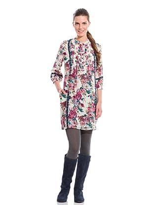 Cortefiel Vestido Estampado Flores (Multicolor)