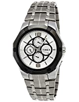 Timex E Class Analog White Dial Men's Watch - I101