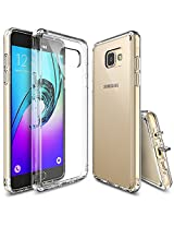 Galaxy A5 2016 Case, Ringke [Fusion] Crystal Clear PC Back TPU Bumper w/ Screen Protector [Drop Protection/Shock Absorption Technology][Attached Dust Cap] For Samsung Galaxy A5 2nd Gen. - Crystal View