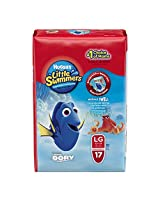 Huggies Little Swimmers Disposable Swim Pants, Size Large, 17 Count (Pack of 6)