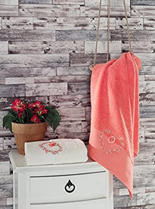 Homemania Handtuch 2er Set Risus rosa 50 x 90 cm