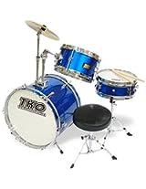 TKO 99TKO99MBL 3-Piece Junior Drum Set, Metallic Blue