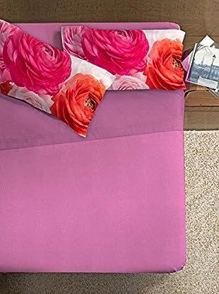 Ipersan Betttuch und Kissenbezug Fine-Art Disegno Bouquet