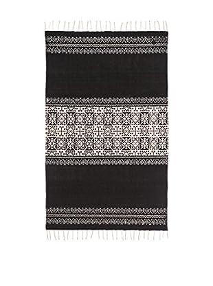 Concept Luxury Alfombra Fringes Blanco/Negro