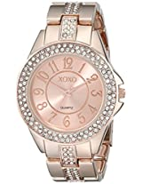 XOXO Women's XO5466 Rhinestone Accent Rose Gold Analog Bracelet Watch