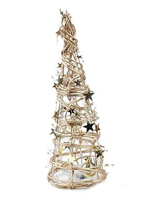 Árbol Navidad Con Luz Oro