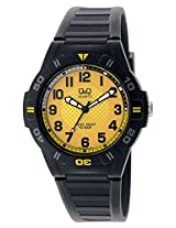 Q&Q Regular Analog Yellow Dial Men's Watch - GW36J006Y