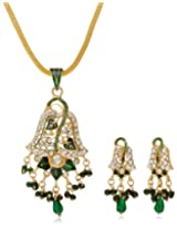 Aakshi Green rhinestonePendant Set for Girls AKS_ST_LEFG