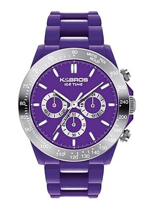 K&BROS 9542-1 / Reloj Unisex  con correa de caucho Morado