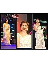 BFZ Bollywood Replica Deepika Padhukon Chiku Color Georgette Fabric Part Wear Saree