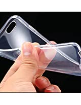 SDO Combo Dotted Finish Ultra Thin Silicone Soft Jelly Case Back Cover for Apple iPhone 6/Apple iPhone 6S - Transparent + Clear Screen Guard + Nano Sim Adapter