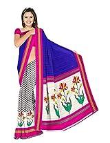 Bhagalpuri Silk Printed Blue Bollywood Saree - VMS80072