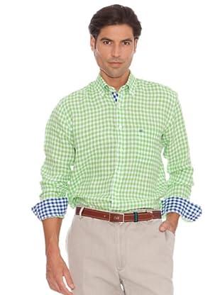 PEDRO DEL HIERRO Camisa Cuadros Bicolor (Verde / Blanco)