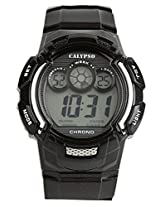 Calypso Black PU Digital Men Watch K5592 5