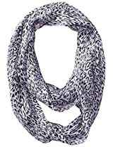 RAMPAGE Women's Black and White Light Weight Infinity Scarves, Black and White - D, One Size