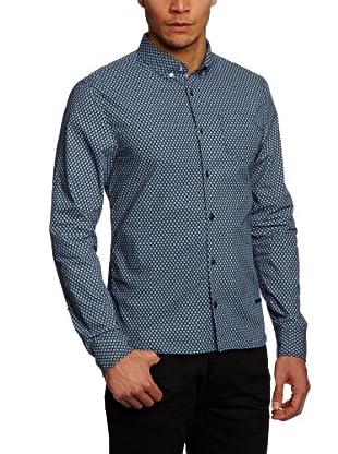 Schott NYC Camisa Gaye (Azul Marino)
