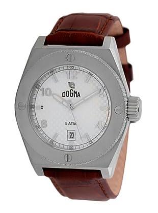 Dogma G7031 - Reloj de Caballero movimiento de quarzo con correa de piel marrón