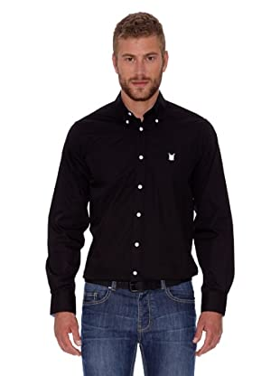 Polo Club Camisa Hombre Fitted Escudo (Negro)