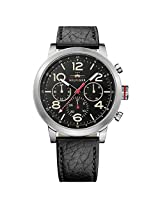 Tommy Hilfiger Jake Analog Quartz Black Leather Strap Men's Watch - TH1791232J