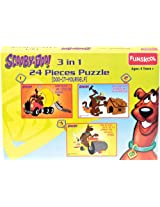 Funskool Scooby Doo 3-in-1 Puzzle