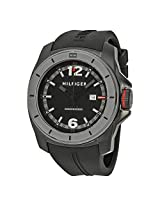 Tommy Hilfiger Black and Grey Dial Cool Sport Silicone Strap Mens Watch - TH1791114J