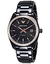 Emporio Armani Analog Black Dial Women's Watch - AR1496