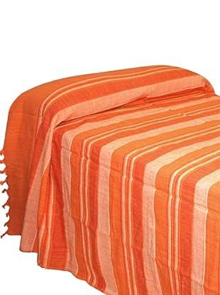 SIGNES DECORA Colcha Rayas (Naranja)