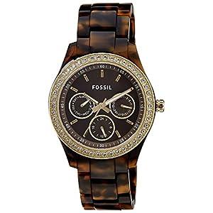 Fossil Stella Chronograph Brown Dial Women's Watch - ES2795