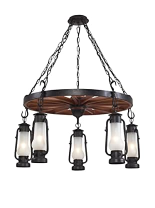 Artistic Lighting Chapman Chandelier, Matte Black