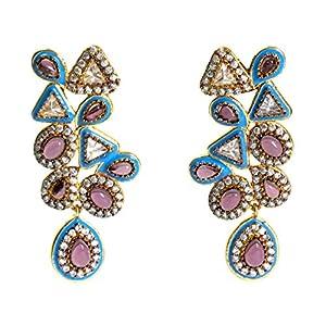 Daamak Jewellery Asymmetric Multicolor Earring
