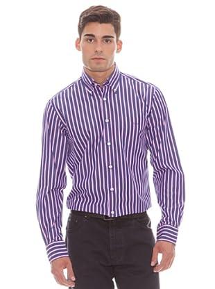 Gant Camisa Rayas (Azul / Rosa)