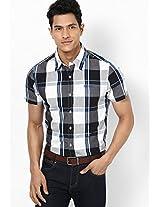 Checks Blue Casual Shirt Numero Uno